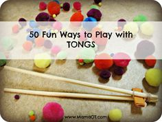 50 Fun Ways to Play with Tongs - Pinned by @PediaStaff – Please Visit http://ht.ly/63sNt for all our pediatric therapy pins
