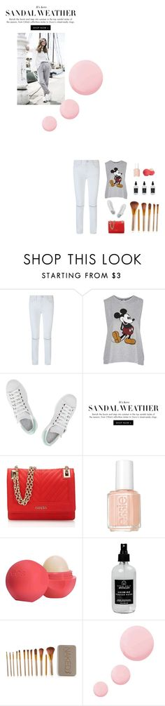 """""""Sin título #948"""" by just-lala ❤ liked on Polyvore featuring Rebecca Minkoff, Topshop, adidas, GUESS, Essie, Eos, Little Barn Apothecary and Urban Decay"""