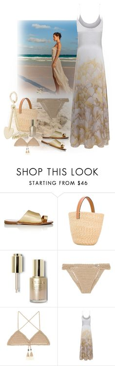 """""""Sand and Sun"""" by gagenna ❤ liked on Polyvore featuring By Terry, Diane Von Furstenberg, Ermanno Scervino, Stila, SHE MADE ME, Rembrandt Charms, DianeVonFurstenberg, maxidress, modaoperandi and mytheresa"""