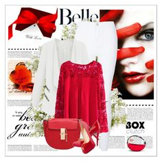 """""""Red"""" by eldin271 ❤ liked on Polyvore featuring DKNY, New Growth Designs, women's clothing, women's fashion, women, female, woman, misses and juniors"""
