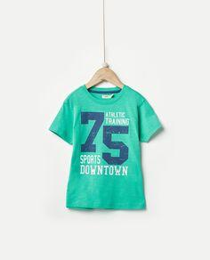 Camiseta de niño Sfera en verde con print