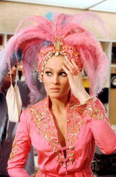 "Ursula Andress dressing for 1967's ""Casino Royale"" as Vesper Lynd."