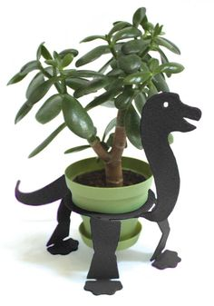 Brontosaurus plant stand for outdoor decor  THANK YOU @Shannon Dunne ! I LOVE THIS! wantwantwant!