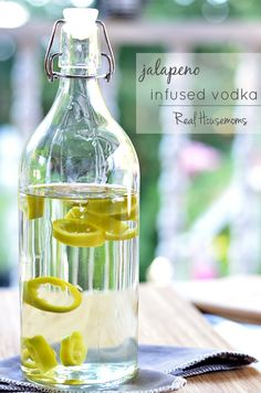 Jalapeno Infused Vodka is an easy way to add some kick to your favorite cocktails, like a Bloody Mary!
