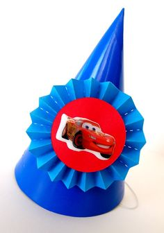 easy Disney Cars party hat tutorial! Best Birthday Ever ~ Disney Cars Dream Party