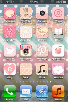 Pretty iPhone icons