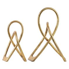 Urban Trends Hairpin Abstract Sculpture - Set of 2 - 39559