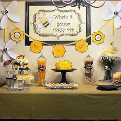 """Mommy to """"Bee"""" Baby Shower Bee Gender Reveal, Baby Shower Gender Reveal, Baby Gender, Mommy To Bee, Gender Party, Bee Party, Reveal Parties, Baby Shower Parties, Shower Baby"""