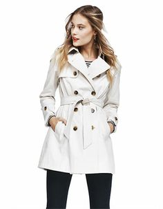 Double Breasted Trench Coat | Lord and Taylor