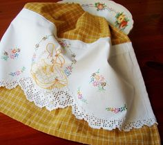 Southern Bell aTea Towel with a Vintage Touch by TwoGirlsLaughing-here's an idea for my pillowcases! Love it!