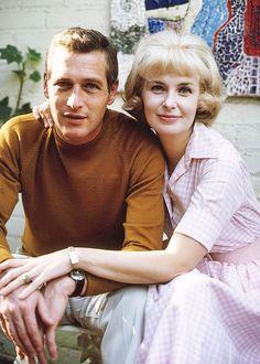 Joanne Woodward y Paul Newman fotografiados por David Sutton, 1965