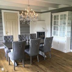 Krzesła tapicerowane z kplatką w stylu Prowansalskim Shabby chic - Jadalnia, styl skandynawski - zdjęcie od PRIMAVERA-HOME.COM Shabby Chic, Dining Table, Dining Rooms, Condo, Room Decor, Classic, Interior, Instagram Posts, Elegant