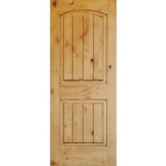 Superior Alder 2 Panel V-Groove Arch Top Door - Interior Solid Knotty Alder Doors  sc 1 st  Pinterest & Interior Knotty Alder Doors from Carson Door Beautiful! | Doors ... pezcame.com