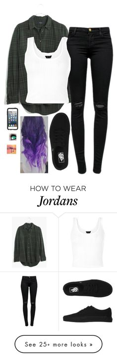 """""""Untitled #792"""" by erika-demass on Polyvore featuring Madewell, J Brand, Vans and OtterBox"""