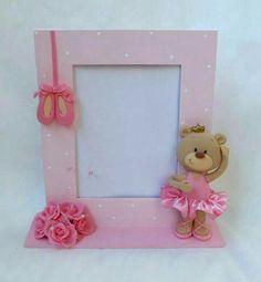 Sugestão porta retrato ursinha bailarina