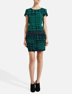 Forenza Mixed-Up Houndstooth Dress from THELIMITED.com