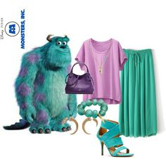 Sully (Monsters Inc) by thefrugal-fashionista on Polyvore featuring polyvore, fashion, style, Uniqlo, Coach, by / natalie frigo, Banana Republic, Vince Camuto, INC International Concepts, disney, monstersinc, Sully and disneycharacter