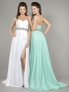 Sheath / Column Sweetheart Long Chiffon Prom Evening Dresses 601068