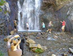 Adams Canyon hike near Layton, Utah - 3.5 miles to a 40 foot waterfall