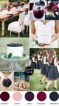Blackberry Burgundy Plum Autumn Wedding