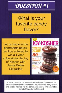 QUESTION #1 - leave your answers in the comments below and be entered to win our magazine.