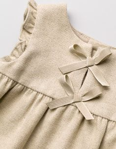 dress with bib front with bows - Dresses - Baby girl (3-36 months) - Kids - ZARA United Kingdom