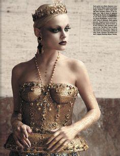 voguelovesme:  Viktoriya Sasonkina by Greg Lotus for Vogue Italia Oct 2013