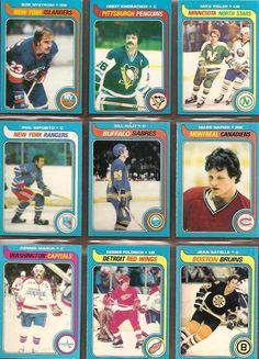 217-225 Bob Nystrom, Orest Kindrachuk, Mike Fidler, Phil Esposito, Bill Hajt, Mark Napier, Dennis Maruk, Dennis Polonich, Jean Ratelle