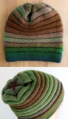Gradient Wurm - Free Pattern Travel motion as well as form. It can be created by knitting crochet or Beanie Knitting Patterns Free, Beginner Knitting Patterns, Knitting Stiches, Mittens Pattern, Knit Mittens, Loom Knitting, Free Knitting, Knitting Projects, Knitted Hats