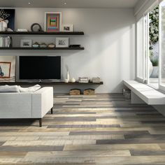 Carson rustic wood effect tiles are beautiful shabby chic tiles with high variation in colour and design. This range has a lovely matt finish with a beautiful natural wood effect relief. These wood effect tiles would make lovely wood effect tiles in kitchens, bathrooms or hallways and with an anti slip finish they are perfect for busy family homes.