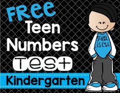 Teen Numbers Test for Kindergarten FREE - Your Kindergarten classroom or homeschool students will be able to show you their teen number mastery with this formative assessment! Perfect for those using the Common Core and those simply mastering the teen num Kindergarten Assessment, Formative Assessment, Kindergarten Classroom, Help Teaching, Teaching Ideas, Teacher Stuff, Teacher Pay Teachers, Number Recognition Activities, Data Binders