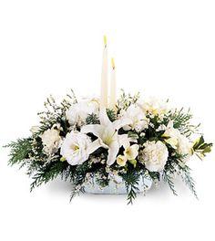 Christmas Flower Arrangements | ... Holiday Glow Arrangement - Christmas & Holiday Flowers - Flowers Fast