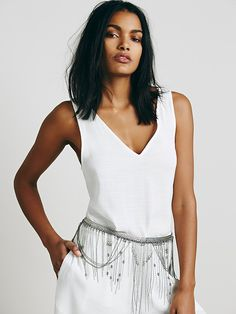 Free People Chain Fringe Skirt Belt at Free People Clothing Boutique