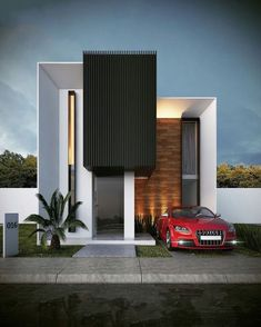 The modern home exterior design is the most popular among new house owners and those who intend to become the owner of a modern house. Villa Design, Facade Design, Exterior Design, Modern Architecture House, Facade Architecture, House Front Design, Modern House Design, House Elevation, Facade House