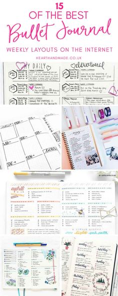 15 beautiful #bujo weekly layouts.
