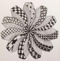 The creativity people have amazes me. Zentangle Drawings, Zentangle Patterns, Zentangles, Art Drawings, Doodle Patterns, Zantangle Art, Zen Art, Mandala Art Lesson, Mandala Drawing
