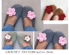 Adult Slippers Crochet Pattern PDFEasy Great for by EvasStudio