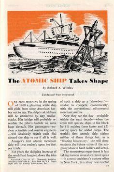 The ATOMIC SHIP Takes Shape (Nov, 1957)