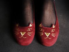 My adorable kitty shoes.