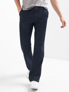 Gap Mens Original Khakis In Relaxed Fit - Chino Academy Tall Navy Tall Men Fashion, Mens Fashion, Top Clothing Brands, Fashion Hashtags, Gap Men, Dockers Pants, China, Twill Pants