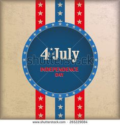 Vintage independence day background design with brown colors. Eps 10 vector file.