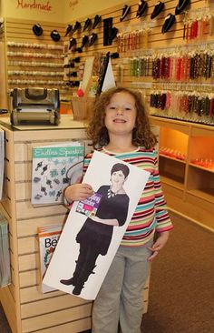 """I took my picture with flat Cathy in my mom's favorite shop. Meant to Bead in Sun Prairie."" Haylie Wollack (permission given by Jodi Wollack Mother)"