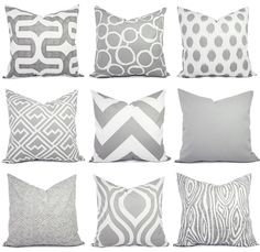 Throw Pillow Cover Grey Pillow Cover Grey by CastawayCoveDecor