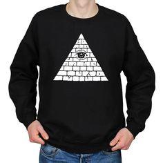 Illuminati Pyramid All Seeing Eye NWO Eye of Providence Crew Neck Sweater Sweatshirt by WhiteoutFashion on Etsy