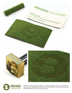 Cartão de visita - empresa de paisagismo