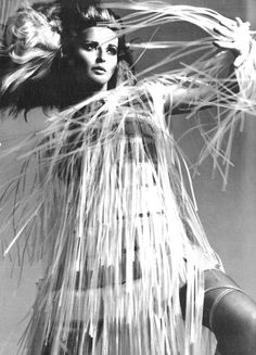 Vogue Italia, April 1967  Photographer: Bert Stern  Model: Samantha Jones  Paco Rabanne, Spring 1967