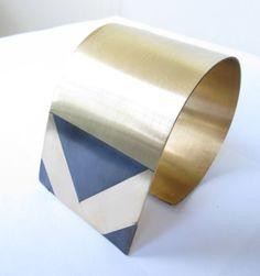 GEO Collection- Brass Cuff