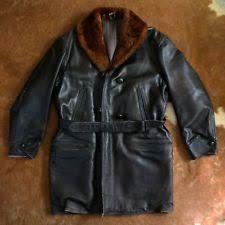 1930's Vintage Horsehide Leather Shawl Collar Barstormer Workwear Jacket