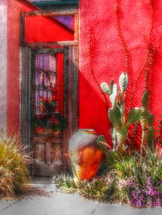 Santa Fe, New Mexico...great southwest colors.