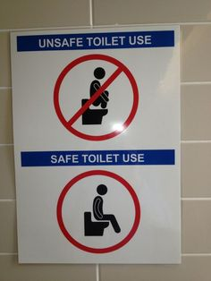 Workplace safety factoid for bathroom use. Geez, lucky we were told!